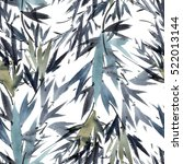 watercolor and ink bamboo...   Shutterstock . vector #522013144