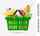 vector shopping cart. a set of... | Shutterstock .eps vector #522013306