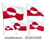 greenland vector flags set. 5... | Shutterstock .eps vector #522013330