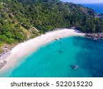 beautiful tropical island with... | Shutterstock . vector #522015220
