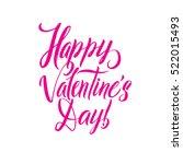 happy valentines day pink... | Shutterstock .eps vector #522015493