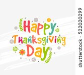 happy thanksgiving day colorful ... | Shutterstock .eps vector #522020299