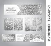 merry christmas banner  flyers  ...   Shutterstock .eps vector #522020404