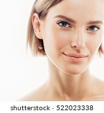 beauty woman face portrait.... | Shutterstock . vector #522023338