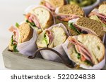 fresh sub sandwich on white and ... | Shutterstock . vector #522024838