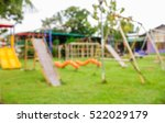 blur swing  slides and other in ... | Shutterstock . vector #522029179