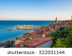 lighthouse at the end of narrow ... | Shutterstock . vector #522031144