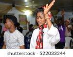 christians having a praise and... | Shutterstock . vector #522033244