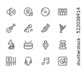 Music Icons With White...