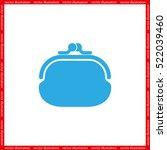 purse icon vector illustration... | Shutterstock .eps vector #522039460