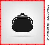purse icon vector illustration... | Shutterstock .eps vector #522039529