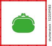 purse icon vector illustration... | Shutterstock .eps vector #522039583
