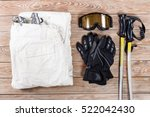 overhead view of ski and... | Shutterstock . vector #522042430
