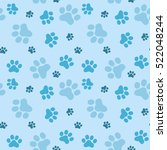 pattern of animals paws  flat... | Shutterstock .eps vector #522048244