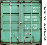 Green Metal Shipping Container...