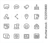 social media icons with white... | Shutterstock .eps vector #522054880