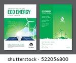 eco energy cover design. vector ... | Shutterstock .eps vector #522056800
