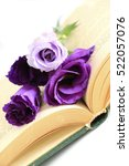book and flowers | Shutterstock . vector #522057076