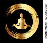 man meditate dark gold abstract ... | Shutterstock .eps vector #522059950
