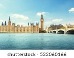 big ben and houses of... | Shutterstock . vector #522060166