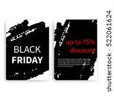 black friday set of vector...   Shutterstock .eps vector #522061624