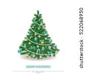 christmas tree. traditionally... | Shutterstock .eps vector #522068950