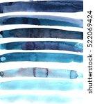 blue strips watercolor... | Shutterstock .eps vector #522069424