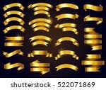 set of gold ribbons.vector... | Shutterstock .eps vector #522071869
