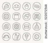 bakery thin line icon set | Shutterstock .eps vector #522072568