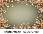 gold mistletoe on christmas... | Shutterstock . vector #522072700