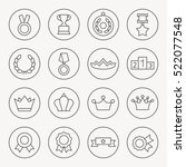 awards thin line icon set | Shutterstock .eps vector #522077548