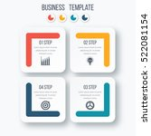 infographics template four... | Shutterstock .eps vector #522081154