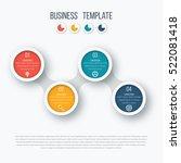 infographics timeline template... | Shutterstock .eps vector #522081418