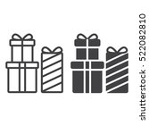 gift boxes line icon  outline...