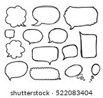 speech or thought bubbles of... | Shutterstock .eps vector #522083404