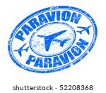 blue grunge rubber stamp with...   Shutterstock .eps vector #52208368