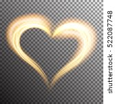 creative shiny heart shape with ... | Shutterstock .eps vector #522087748