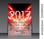 happy new year 2017 flyer... | Shutterstock .eps vector #522089014