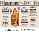 beer menu placemat food... | Shutterstock .eps vector #522094168