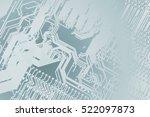 circuit board. electronic...   Shutterstock . vector #522097873