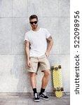 skater boy | Shutterstock . vector #522098956