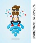 young men guy character sitting ...   Shutterstock .eps vector #522099076