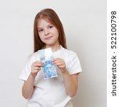 little girl holding a swiss... | Shutterstock . vector #522100798