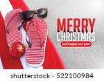 merry christmas from a tropical ...   Shutterstock . vector #522100984