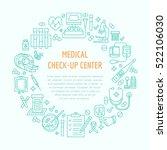medical center poster template. ... | Shutterstock .eps vector #522106030