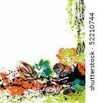 vector floral background   Shutterstock .eps vector #52210744