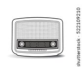 black outlined antique radio... | Shutterstock .eps vector #522109210