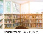 blurred background of library... | Shutterstock . vector #522110974
