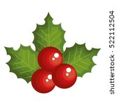 merry christmas holly and leafs ...   Shutterstock .eps vector #522112504
