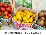 small red  brown and yellow... | Shutterstock . vector #522112816